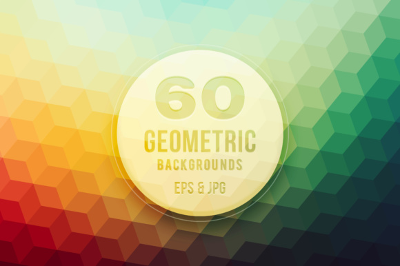 60 Colorful Geometric Backgrounds Graphic By Yurlick