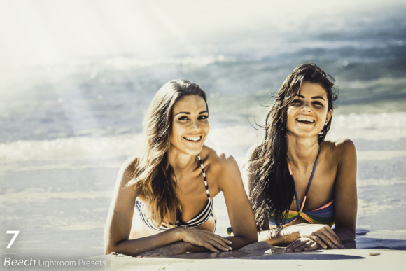 Print on Demand: 7 Beach Lightroom Presets Graphic Actions & Presets By Eldamar Studio