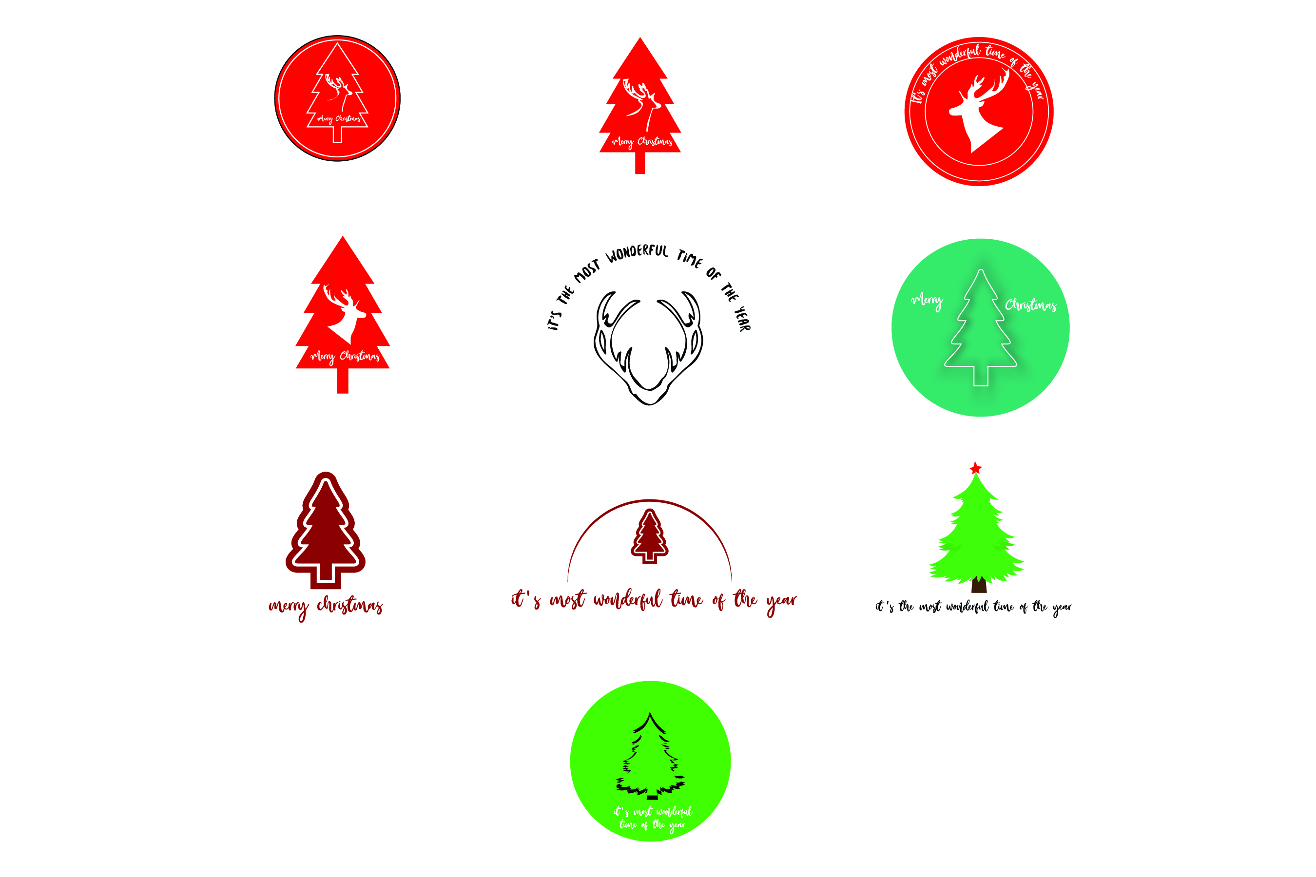 Download Free Merry Christmas 10 Designs Bundle Svg Cut File Graphic By for Cricut Explore, Silhouette and other cutting machines.
