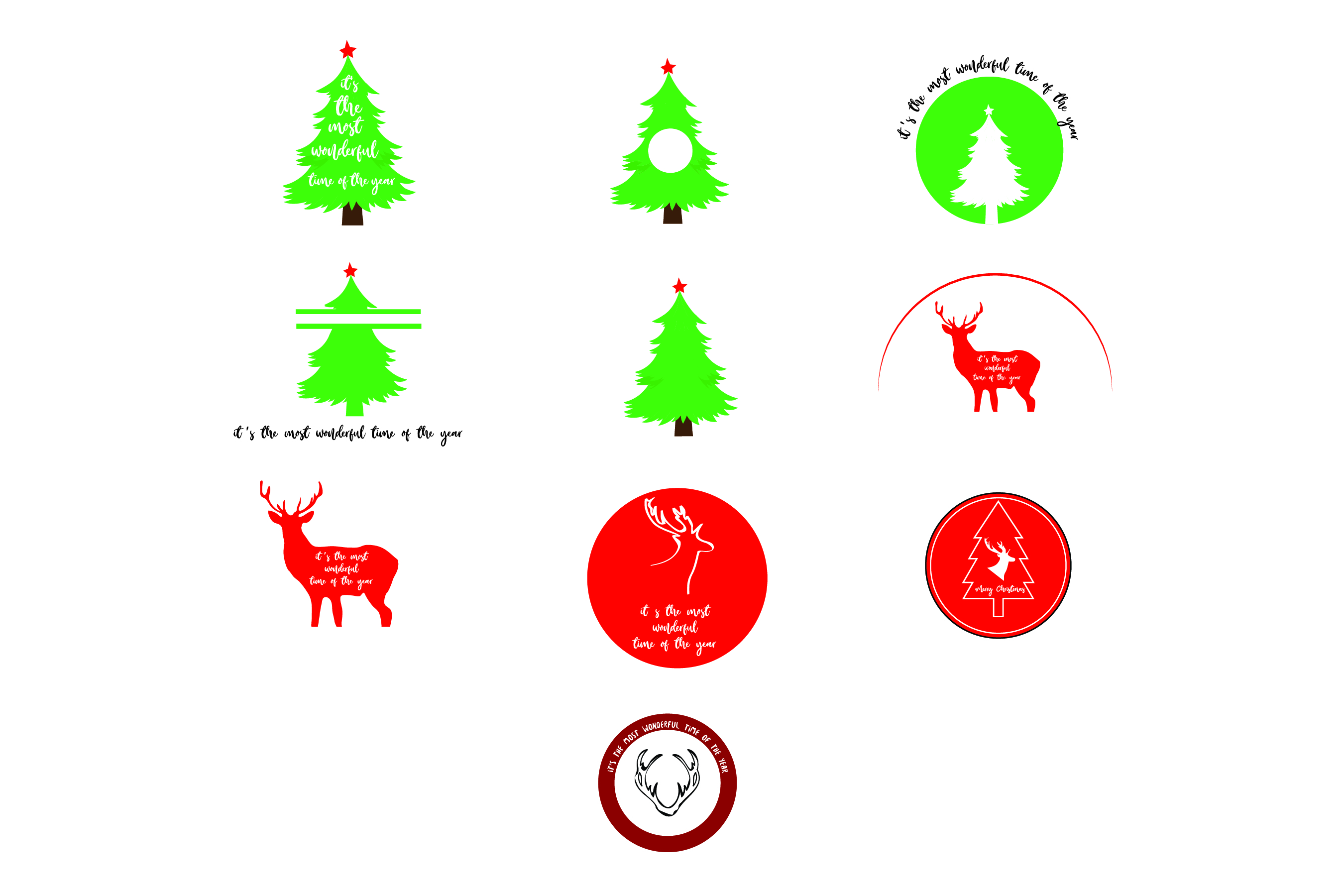 Download Free Aa38 Merry Christmas 10 Designs Svg Bundle Graphic By SVG Cut Files