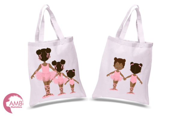 Aa Ballerina Sisters Clipart Graphic Illustrations By AMBillustrations - Image 2