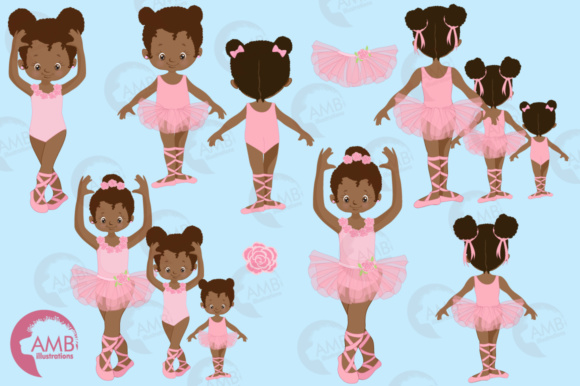 Aa Ballerina Sisters Clipart Graphic Illustrations By AMBillustrations - Image 4