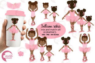 Download Free Aa Ballerina Sisters Clipart Graphic By Ambillustrations for Cricut Explore, Silhouette and other cutting machines.