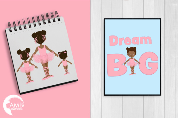 Aa Ballerina Sisters Clipart Graphic Illustrations By AMBillustrations - Image 5