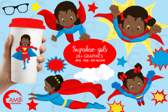 Aa Supergirl Clipart Graphic Illustrations By AMBillustrations