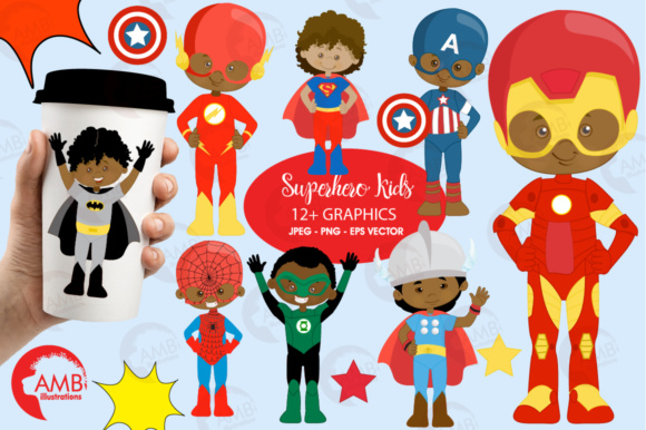 Aa Superhero Cliparts Graphic Illustrations By AMBillustrations