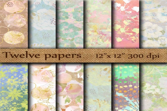 Abstract Digital Papers Graphic Backgrounds By twelvepapers - Image 1