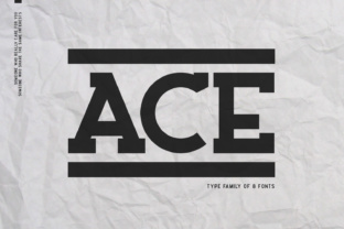 Ace Family Font By Factory738