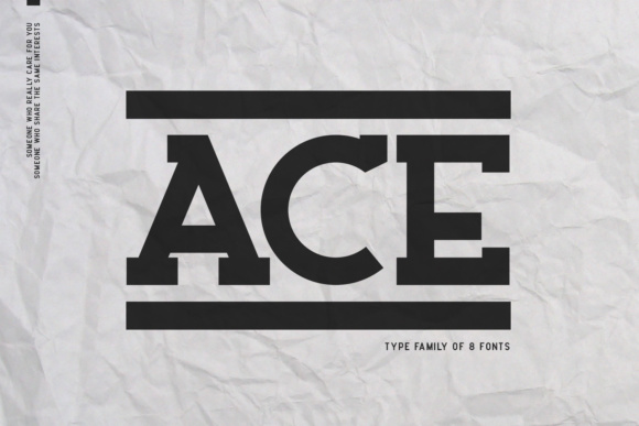 Print on Demand: Ace Family Serif Font By Factory738
