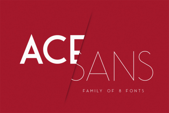 Print on Demand: Ace Sans Family Sans Serif Font By Factory738