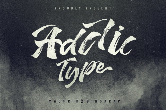 Print on Demand: Addictype Display Font By maghrib