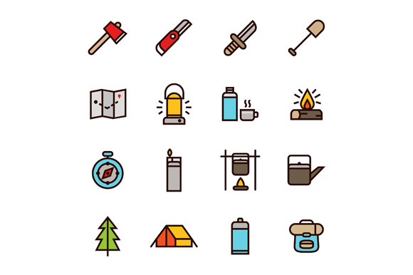 Print on Demand: Adventure Icons Graphic Icons By Goodware.Std