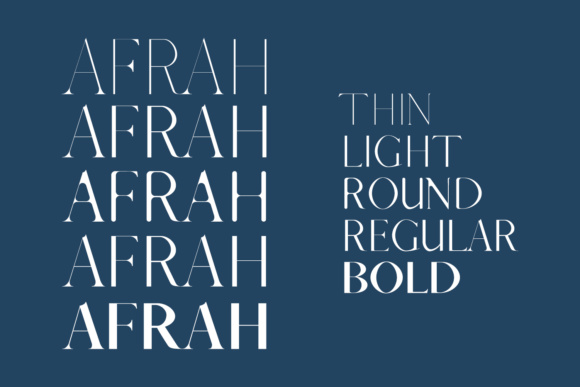Print on Demand: Afrah Family Serif Font By Creative Tacos - Image 2