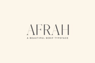 Afrah Family Serif Font By Creative Tacos