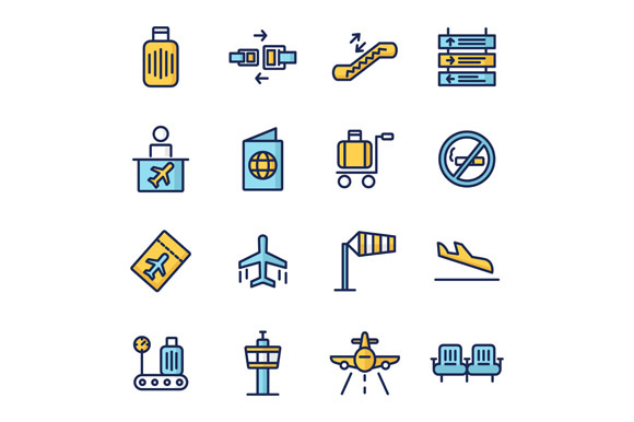 Print on Demand: Airport Icons Graphic Icons By Goodware.Std