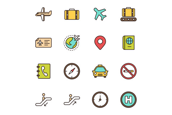 Airport Icons Graphic Icons By Goodware.Std