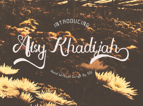 Print on Demand: Aisy Khadijah Script & Handwritten Font By Syukursetiyadi