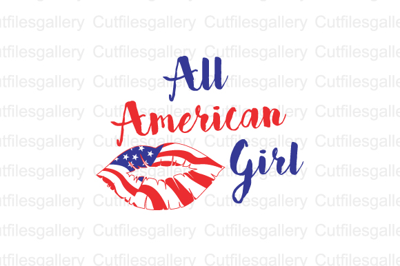 Download Free All American Girl Graphic By Cutfilesgallery Creative Fabrica for Cricut Explore, Silhouette and other cutting machines.