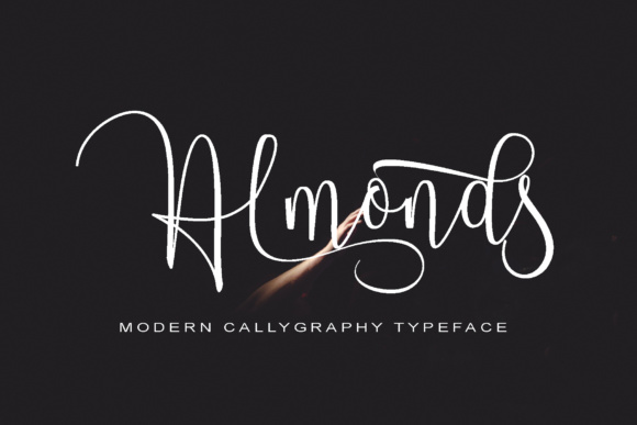 Print on Demand: Almonds Script Script & Handwritten Font By Polem