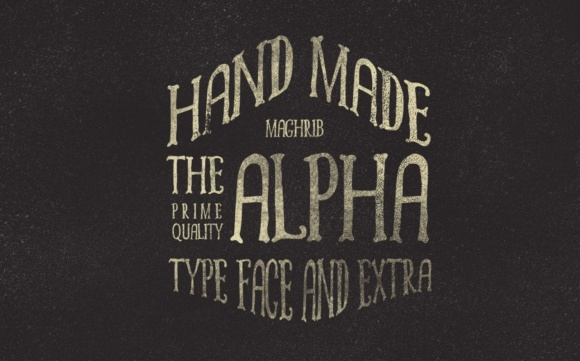 Print on Demand: Alpha Display Font By maghrib