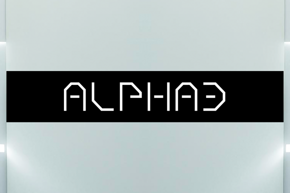 Print on Demand: Alpha3 Display Font By Qbotype Fonts