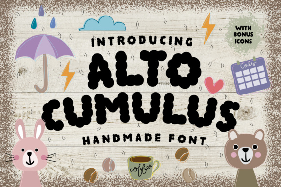 Print on Demand: Altocumulus Display Font By Caoca Studios - Image 1