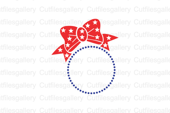 Download Free American Bow Monogram Graphic By Cutfilesgallery Creative Fabrica for Cricut Explore, Silhouette and other cutting machines.