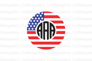 Download Free American Flag Monogram Frames Cut Files Graphic By for Cricut Explore, Silhouette and other cutting machines.