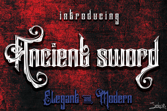 Print on Demand: Ancient Sword Display Font By jehansyah251