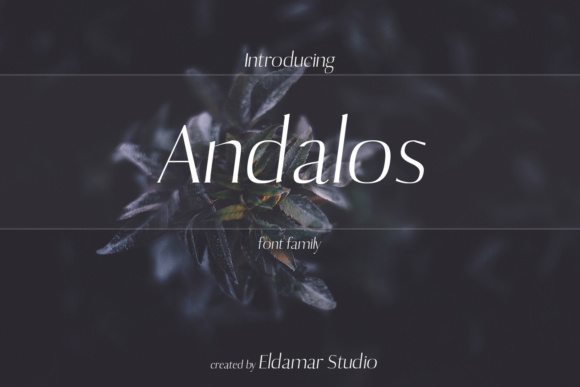Print on Demand: Andalos Serif Font By Eldamar Studio Fonts