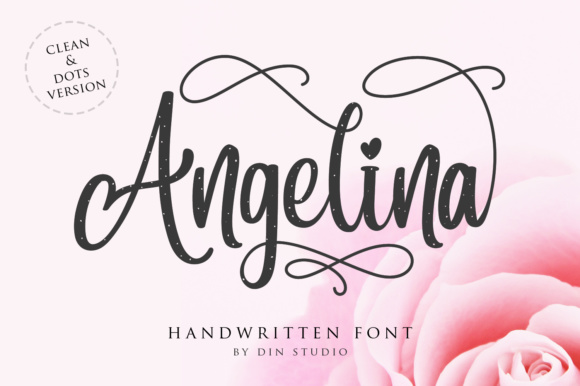 Print on Demand: Angelina Script & Handwritten Font By Din Studio