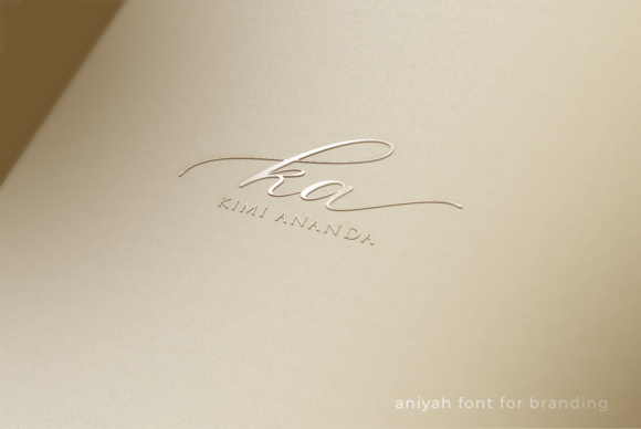 Print on Demand: Aniyah Script Script & Handwritten Font By Din Studio - Image 5