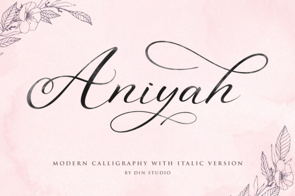 Print on Demand: Aniyah Script Script & Handwritten Font By Din Studio