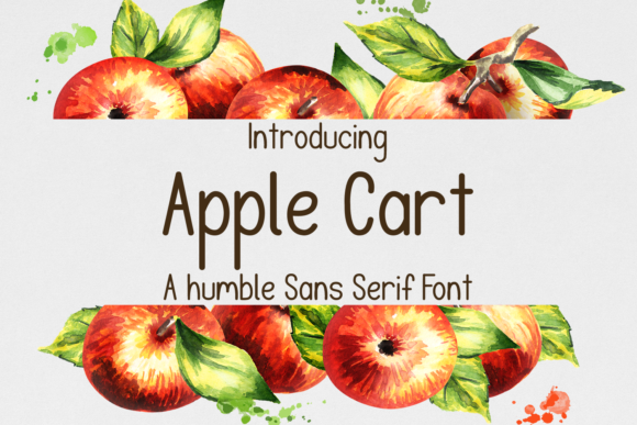 Print on Demand: Apple Cart Sans Serif Font By amber_nest