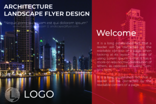 Download Free Architecture Landscape Flyer Design Graphic By Harizandy for Cricut Explore, Silhouette and other cutting machines.