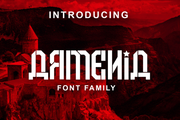 Print on Demand: Armenia Display Schriftarten von vladimirnikolic