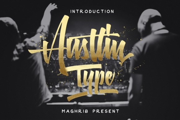 Print on Demand: Austtin Script & Handwritten Font By maghrib