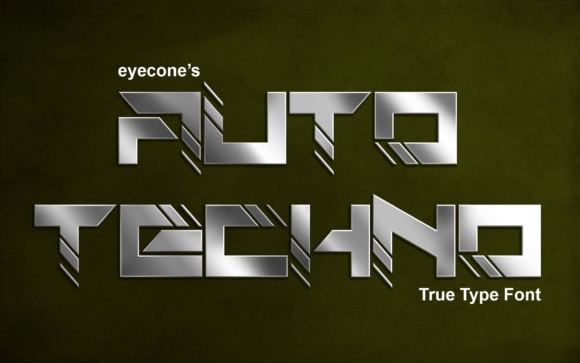 Print on Demand: Auto Techno Display Font By EyeCone