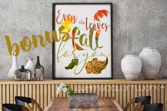 Download Free Autumn Leaves Watercolor Collection Graphic By Whimsicalartwork for Cricut Explore, Silhouette and other cutting machines.