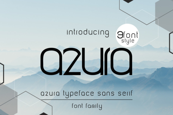 Print on Demand: Azura Sans Serif Font By jehansyah251