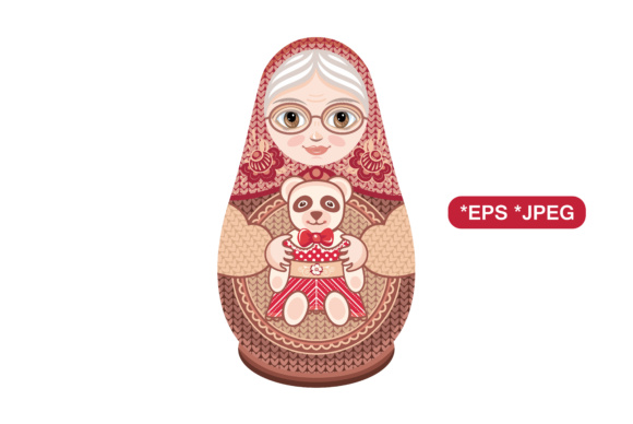 Download Free Babushka Doll Vector Matryoshka Graphic By Zoyali Creative Fabrica for Cricut Explore, Silhouette and other cutting machines.
