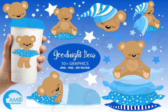 Baby Bear Clipart Graphic Illustrations By AMBillustrations