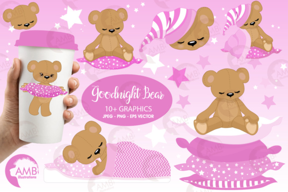 Baby Bear Girl Clipart Graphic Illustrations By AMBillustrations