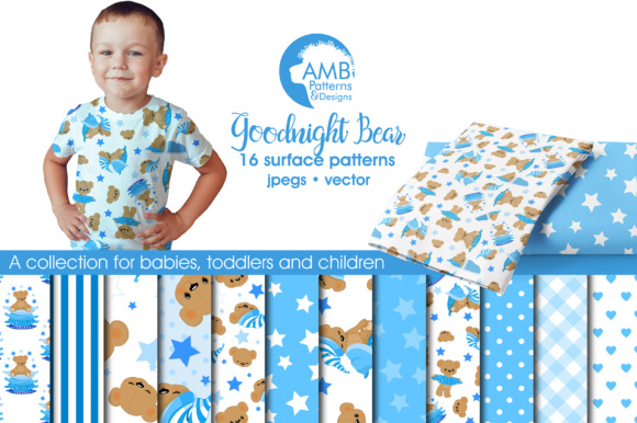 Baby Bear Papers Graphic Patterns By AMBillustrations