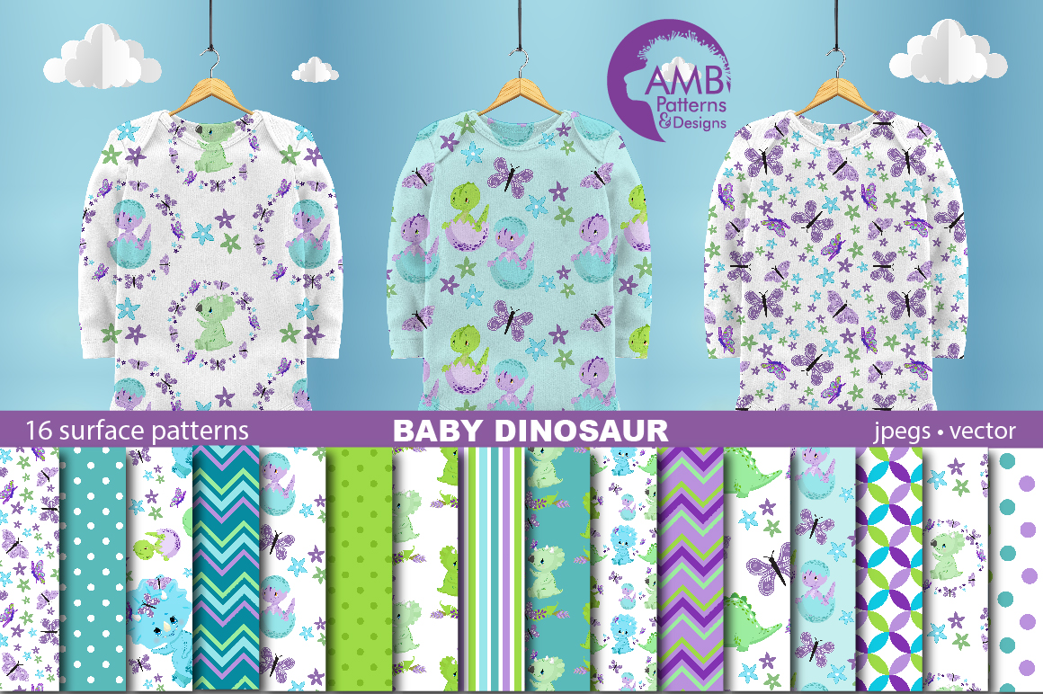 Download Free Baby Boy Dino Papers Graphic By Ambillustrations Creative Fabrica for Cricut Explore, Silhouette and other cutting machines.