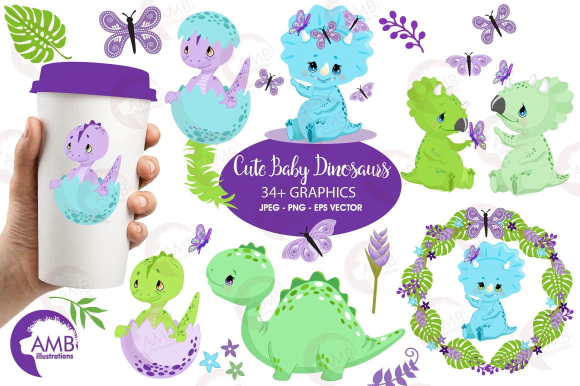 Download Free Baby Boy Dinosaurs Graphic By Ambillustrations Creative Fabrica for Cricut Explore, Silhouette and other cutting machines.