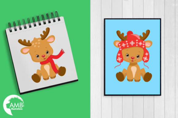 Download Free Baby Reindeer Clipart Grafik Von Ambillustrations Creative Fabrica for Cricut Explore, Silhouette and other cutting machines.