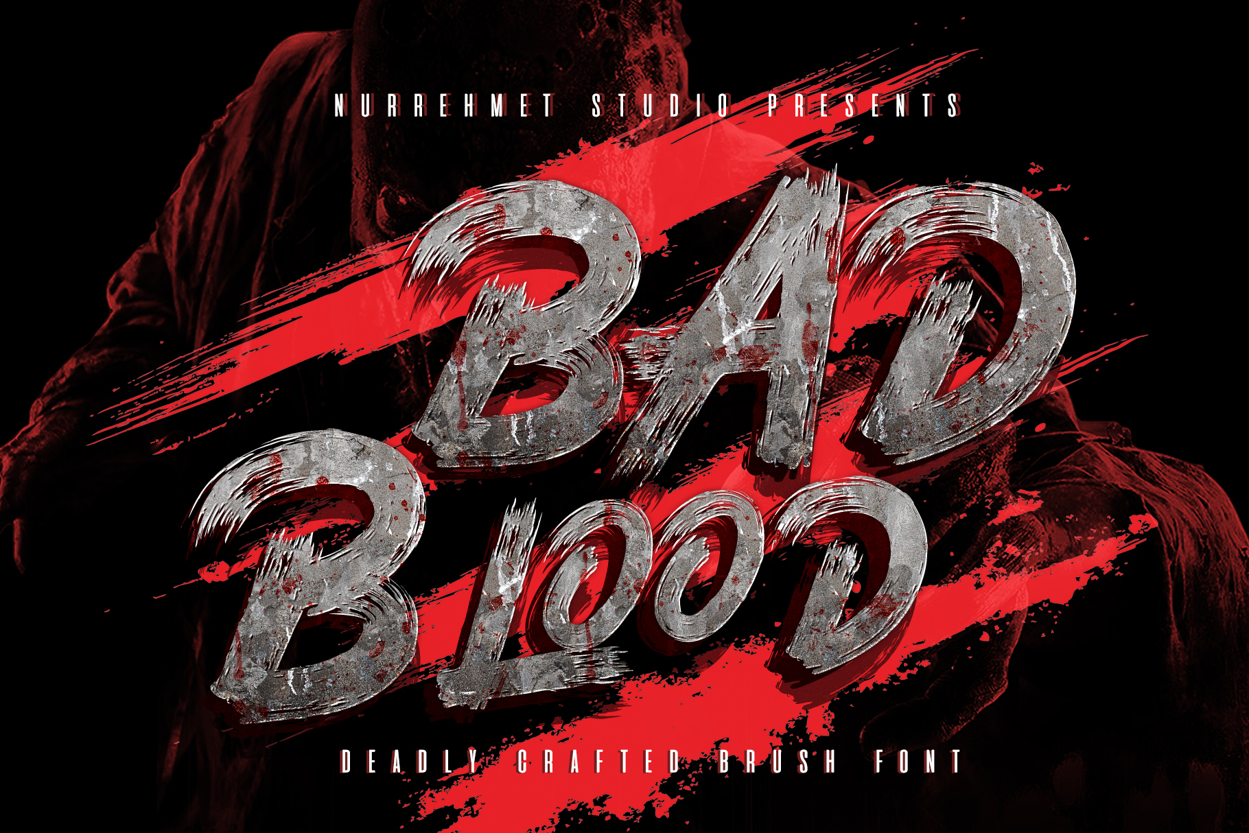 Download Free Bad Blood Font By Nurrehmet Studio Creative Fabrica for Cricut Explore, Silhouette and other cutting machines.