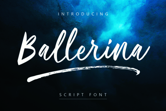 Print on Demand: Ballerina Script & Handwritten Font By Geranium.co