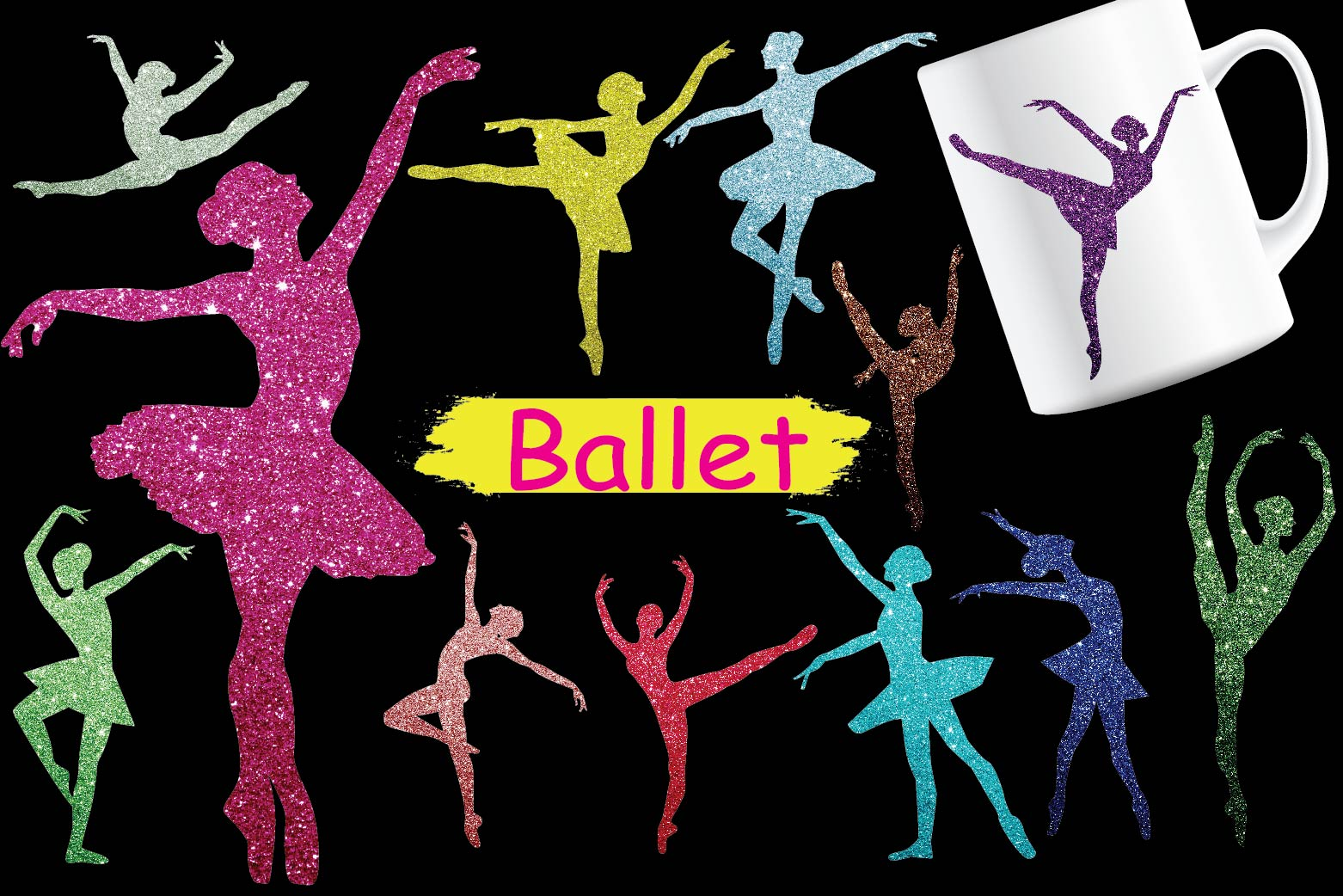 Download Free Ballet Clipart Graphic By Design Haul Creative Fabrica for Cricut Explore, Silhouette and other cutting machines.